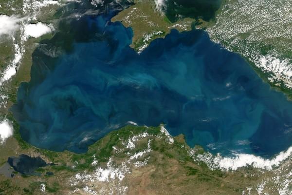 El Mar Negro desde el espacio