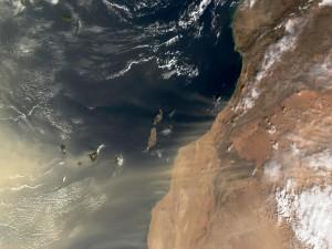 Las Islas Canarias vistas desde el espacio