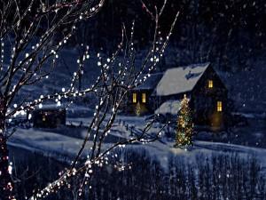 Postal: Mágica noche de Navidad