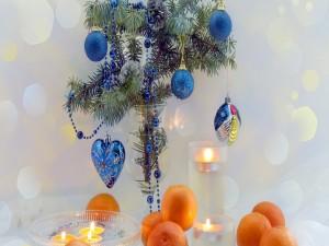 Adornos para Navidad con mandarinas