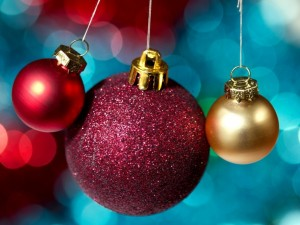 Postal: Bolas para Navidad