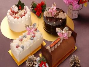 Postal: Dulces y pasteles para Navidad