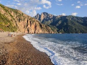 Postal: Playa Bussaglia, sur de Córcega, Francia