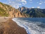 Playa Bussaglia, sur de Córcega, Francia