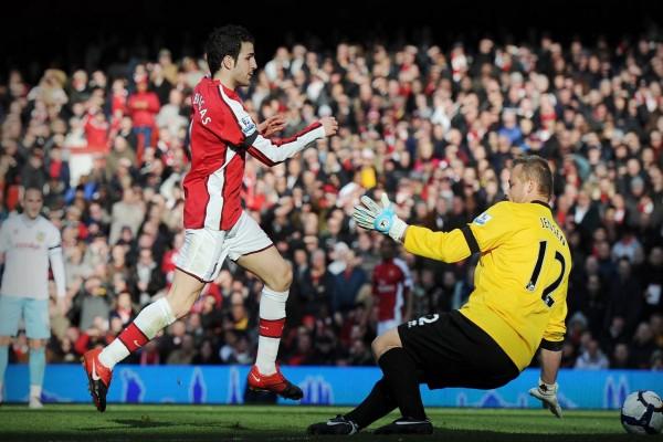 Cesc Fàbregas con el Arsenal F.C.