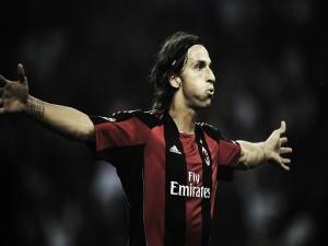 Postal: Zlatan Ibrahimovic con el AC Milan