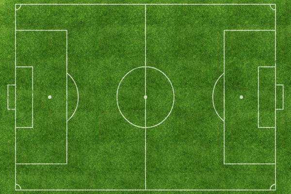 Un campo de fútbol