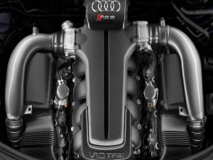 Postal: Motor de un Audi RS 6