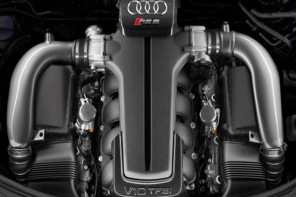 Motor de un Audi RS 6