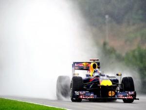 Coche Red Bull durante la carrera
