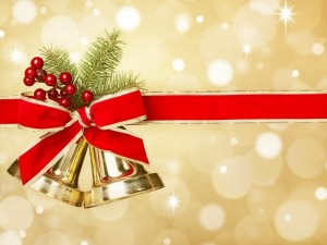 Postal: Campanas de Navidad