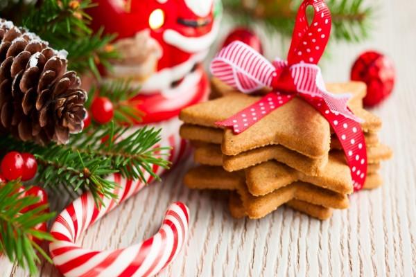 Galletas de estrellas para Navidad