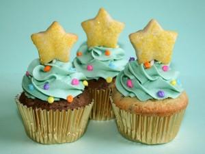 Cupcakes con una estrella