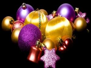 Postal: Adornos para el arbolito navideño