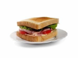 Postal: Sandwich de jamón