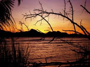 Puesta de sol en las Seychelles