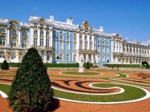 Postal: Palacio de Catalina en San Petersburgo