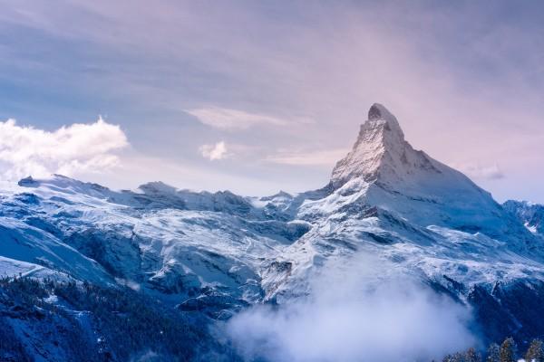 Gran pico de una montaña