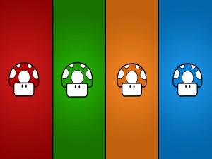 Postal: Honguitos de colores
