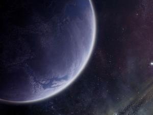 Postal: Planeta azul