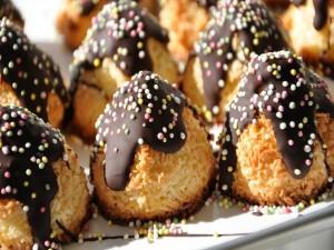 Galletas de coco con chocolate