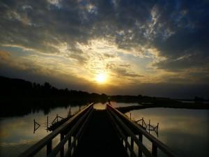Postal: Muelle en el lago