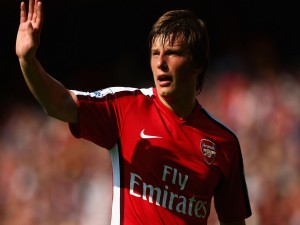 Andréi Arshavin con el Arsenal F.C.
