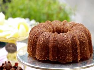 Postal: Bundt Cake con chocolate y almendras