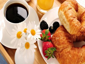 Postal: Cruasanes para el desayuno