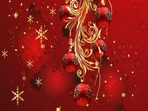 Postal: Adorno para el festejo de Navidad