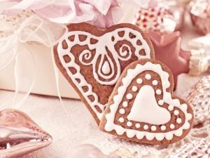 Galletas con forma de corazón