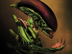 Alien de verduras