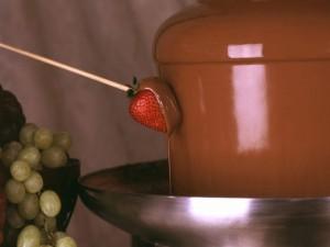Postal: Fuente de chocolate