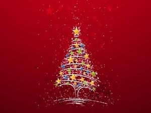 Árbol de Navidad con estrellas