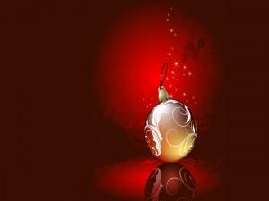 Solitaria bola de Navidad