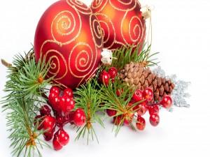 Postal: Elementos para decorar en Navidad