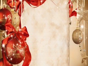 Postal para Año Nuevo y Navidad