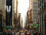 Tráfico en una calle de Nueva York