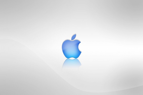 Logo de Apple azul