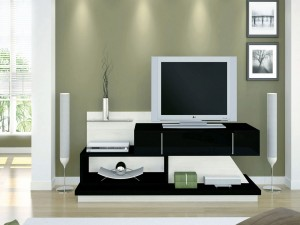 Postal: Sala moderna con televisor