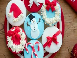 Postal: Pastelitos con motivos navideños