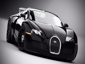 Postal: Bugatti Veyron negro