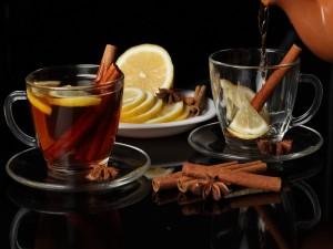 Postal: Té con canela y limón