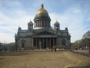 Postal: Catedral de San Isaac, San Petersburgo (Rusia)
