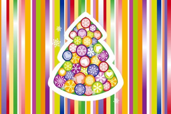 Árbol de Navidad multicolor