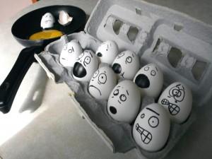Postal: Huevos graciosos