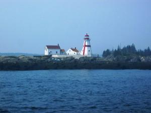 Postal: Faro en la isla de Campobello, New Brunswick, Canadá
