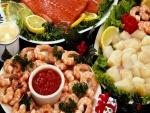 Pescado y marisco para comer en Navidad