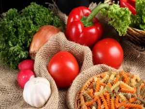 Postal: Pasta y verduras