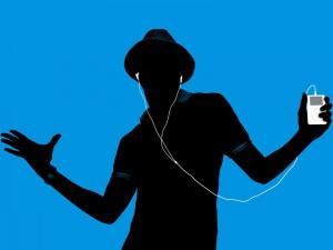 Postal: Escuchando música